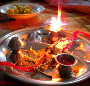 Aarti_plate_Raksha_Bandhan_India